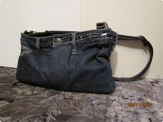 были никому не нужные джинсы и хотелось что-то с ними сотворить. и вот что получилось фото 1