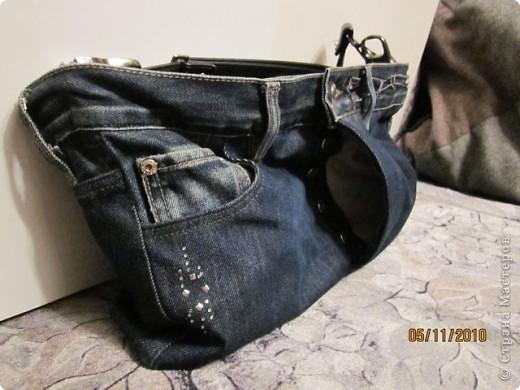 были никому не нужные джинсы и хотелось что-то с ними сотворить. и вот что получилось фото 2