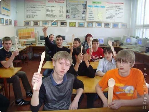 Интегрированный урок: используя полученные знания по информатике, ученики должны составить орнамент для декорирования своей ложки. фото 1