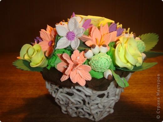 Вазочка с цветами ХФ фото 1