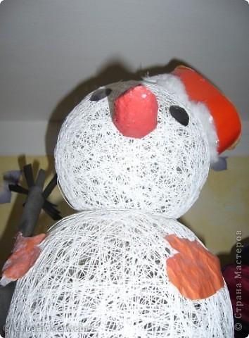 снеговик из воздушных шариков фото 1