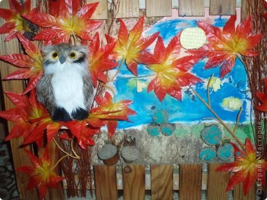вот такое панно я сделала для одной девушки в детский сад, что вышло, вам судить:)))))Осеннее настроение:))) фото 2