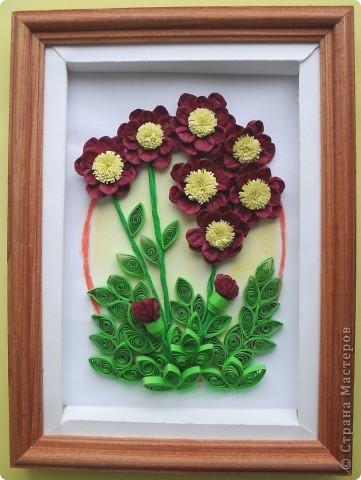 Салфеточные бордовые цветы фото 2