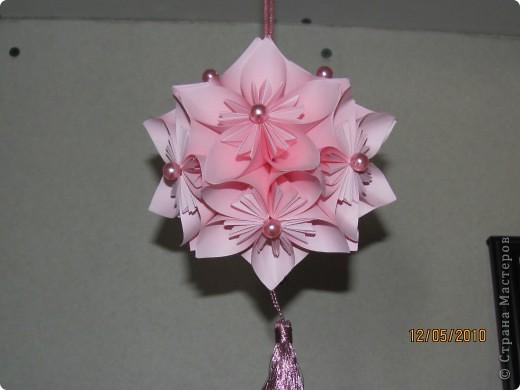 Кусудама в розовых тонах