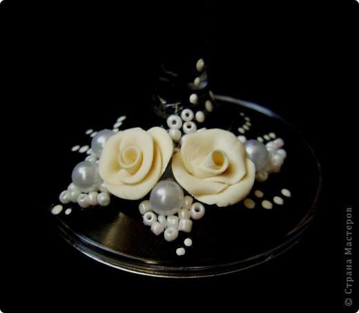 Свадебные бокалы. Первый блин. фото 4