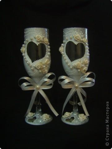 Эти бокалы сделаны по мастер-классу Олеси Ф. Олеся, спасибо вам огромное за ваше вдохновляющее творчество! фото 1