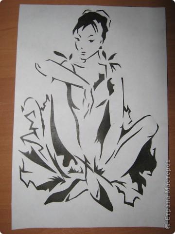 Поделка изделие День матери Вырезание Балерина Бумага