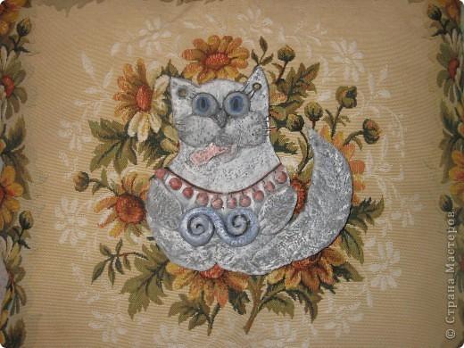 Кошка из соленого теста фото 3