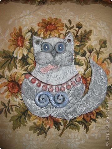 Кошка из соленого теста фото 1