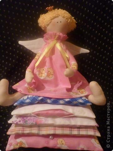 Пока дочка была в отъезде, решила сшить ей в подарок Тильду-Сплюшку. (Так плодотворно начались выходные). фото 7