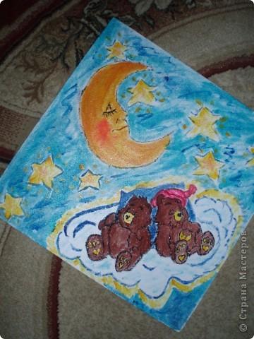 вот таких мишек я нарисовала в спальню детского сада в дополнение к ангелам фото 1