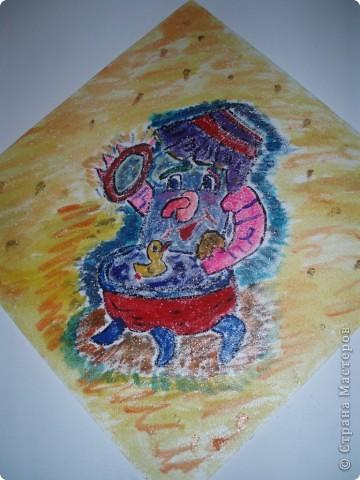 вот таких мишек я нарисовала в спальню детского сада в дополнение к ангелам фото 3