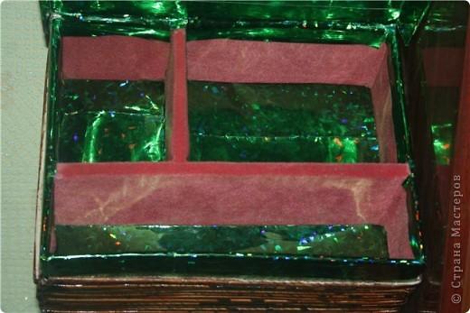 Коробка из под обуви,превращенная в шкатулку для рукоделок фото 2