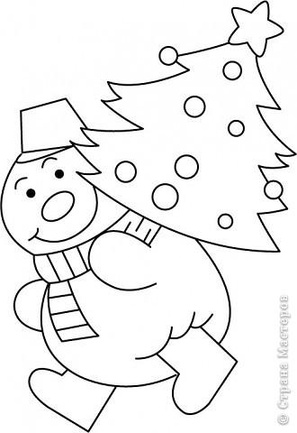 Новогодние трафареты снеговиков фото 5