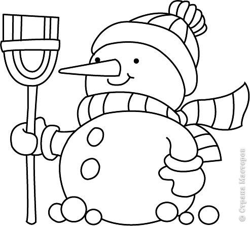 Новогодние трафареты снеговиков фото 6