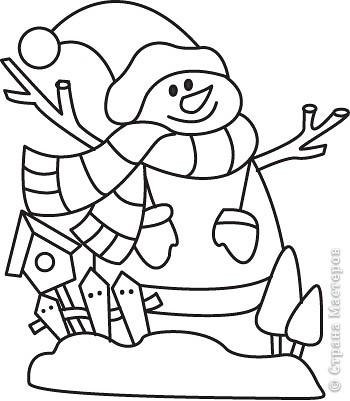 Украшение Новый год Вырезание Новогодние трафареты снеговиков Бумага фото 4