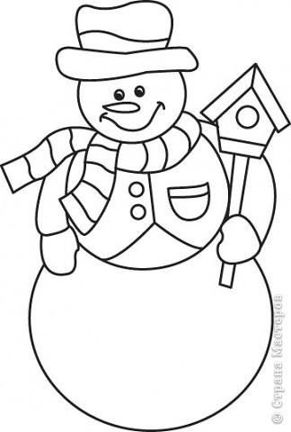 Новогодние трафареты снеговиков фото 2