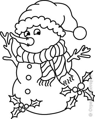Новогодние трафареты снеговиков фото 7