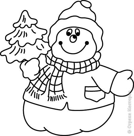 Новогодние трафареты снеговиков фото 8