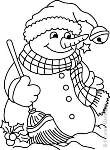 Украшение Новый год Вырезание Новогодние трафареты снеговиков Бумага фото 9