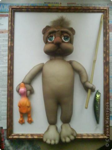 Я в восторге от кота Кекса автора PAWY.Решала сделать панно с котиком.Не судите строго,я только учусь. фото 4