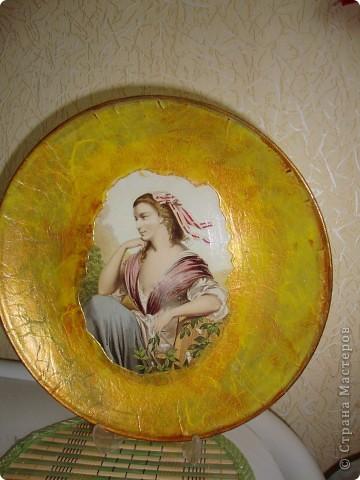 Декупаж на тарелках фото 1