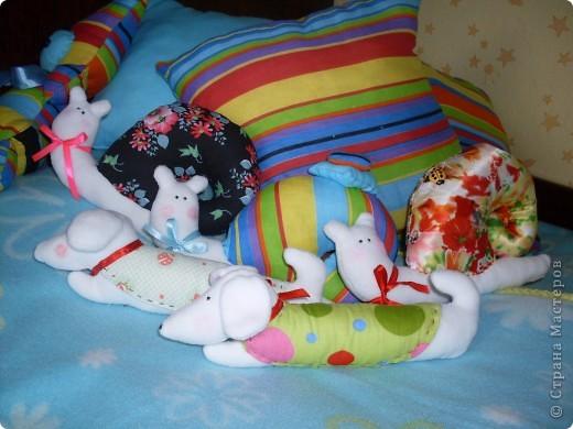 Тильдо-улиточки, собачки и мышки))) фото 1
