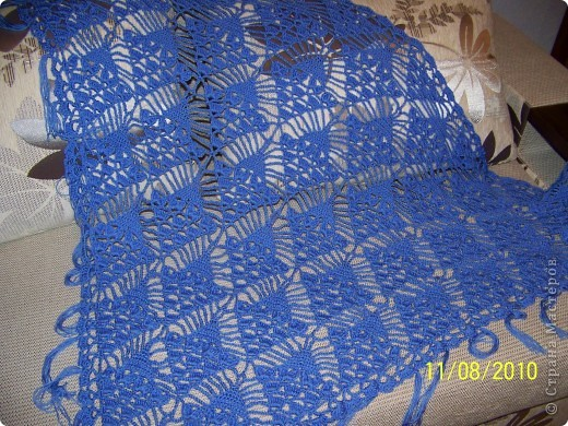 Меня очень увлёк процесс вязания и поэтому вторую шаль я связала на одном дыхании... фото 2