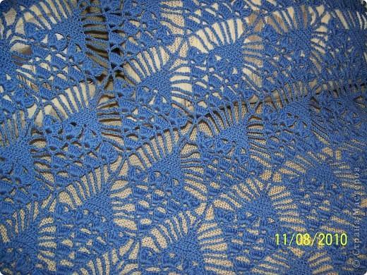 Меня очень увлёк процесс вязания и поэтому вторую шаль я связала на одном дыхании... фото 3