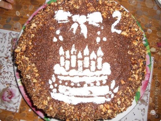 Моей доченьке Алиночке 6 ноября было 2 годика. Вот такой тортик мы с сыном сделали ей на День рождения.  фото 1