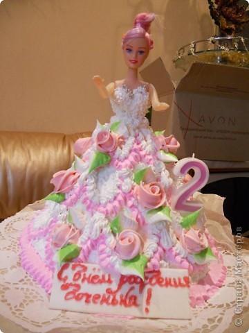 Моей доченьке Алиночке 6 ноября было 2 годика. Вот такой тортик мы с сыном сделали ей на День рождения.  фото 3