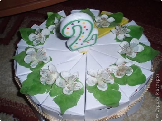 Вчера у Игнатушки был день рождения, ему исполнилось 2 годика, и благодаря нашим мастерицам (Елене Тафиню)  ElenaTafuni ~  за идеи, за что им огромное спасибо!я сделала вот такой тортик с сюрпризами для деток:)) фото 1
