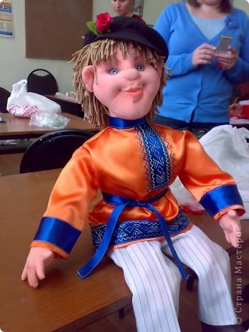 моя первая текстильная кукла, надеюсь не последняя фото 3