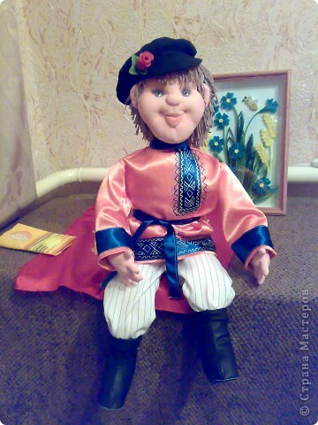 моя первая текстильная кукла, надеюсь не последняя фото 1