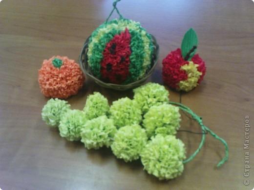 """Вот такие фруктики мы с детишками  кружка """"Моя фантазия"""" собрали этой осенью. фото 1"""