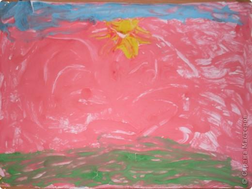 Решили с детишками немного порисовать,но не красками а жидким тестом.И вот что получилось,использовали,ложки,зубочистки и кисточки. фото 3