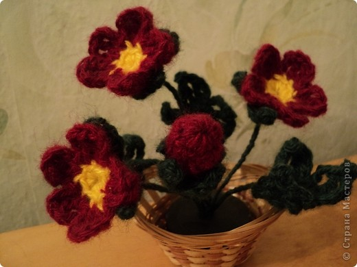 Цветы связаны уже давно и до сих пор украшают интерьер. фото 2