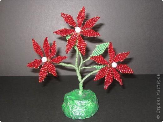 Самые простые цветы из бисера мастер класс с пошаговым