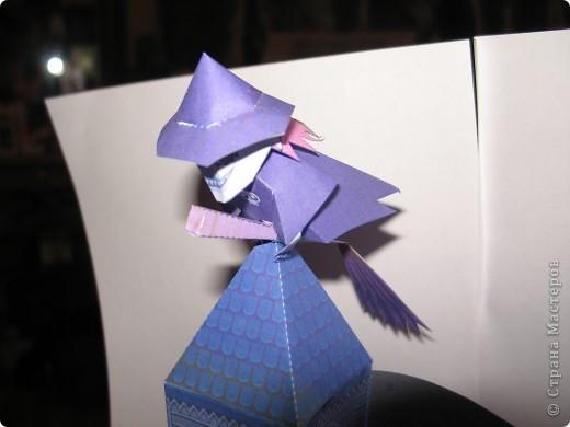 """Поделка на Хэллоуин из бумаги. Выкройка готовая взята с того же сайта ,что и """"домашний кинотеатр"""". фото 2"""
