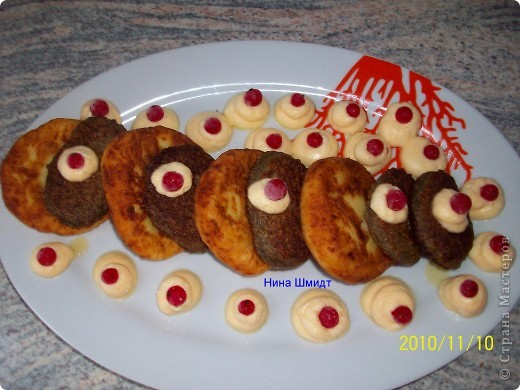 Котлеты из печени и картофеля.