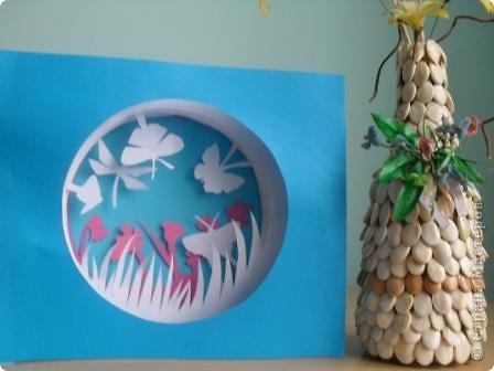 бумажный туннель с бабочками