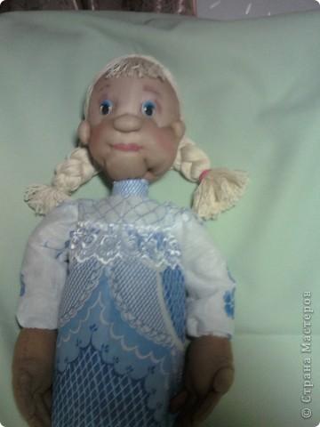 """Вот такую куклу я сделала по МК из """"СТРАНЫ"""". Спасибо всем, кто занимается куклами. фото 1"""