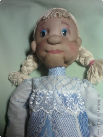 """Вот такую куклу я сделала по МК из """"СТРАНЫ"""". Спасибо всем, кто занимается куклами. фото 2"""