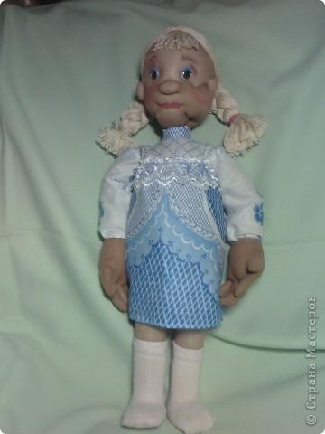 """Вот такую куклу я сделала по МК из """"СТРАНЫ"""". Спасибо всем, кто занимается куклами. фото 3"""