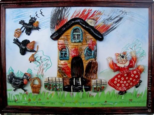 """Так и стоит наша комната -поджигать жалко,на выставку взяли другую нашу работу """"Кошкин дом"""". фото 1"""