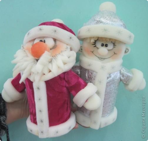 Дед мороз и снегурочка своими руками фото
