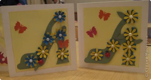 """Сегодня, я первоклассникам предложила сделать открытку к Дню матери. Идея возникла после того, как я набрала в поисковике картинок, волшебное словосочетание """"цветочная туфелька"""".... Источник вдохновения колосальный!!!!! фото 3"""