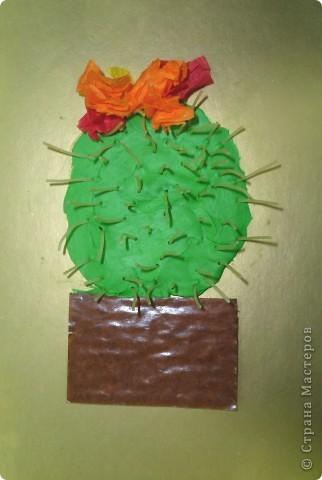 Спасибо за идею Sandalkе!      http://stranamasterov.ru/node/108932?tid=903  Сегодня с ребятишками делали кактус. Вдохновились посмотрев мультфильм  «Лунтик кактус» и вот наши цветущие кактусы.  фото 2