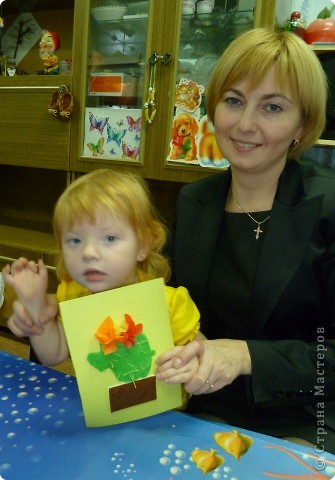 Спасибо за идею Sandalkе!      http://stranamasterov.ru/node/108932?tid=903  Сегодня с ребятишками делали кактус. Вдохновились посмотрев мультфильм  «Лунтик кактус» и вот наши цветущие кактусы.  фото 3