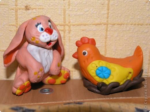 """Признаюсь, что это """" повторялки"""" . Котика увидела в Стране, а зайца нашла в Инете. Воспользовалась идеями и получились символы наступающего 2011 года. фото 3"""